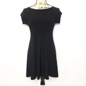 Sympli Black Cap Sleeve Shirt Dress LBD